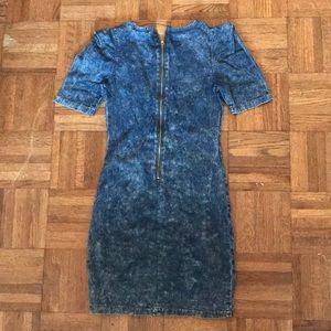 Rainbow Dresses - Denim dress, sized medium.